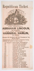 Political:Small Paper (pre-1896), Abraham Lincoln: 1864 Ohio Ballot....