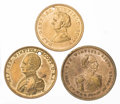 Political:Tokens & Medals, Winfield Scott: Three Gilded Brass Tokens.... (Total: 3 Items)