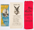 Political:Ribbons & Badges, James G. Blaine: Ribbons and Ballot.... (Total: 3 Items)