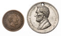 Political:Tokens & Medals, Abraham Lincoln: Two Tokens.... (Total: 2 Items)