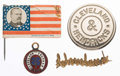 Political:Ferrotypes / Photo Badges (pre-1896), Grover Cleveland: Four Campaign Badges.... (Total: 4 Items)