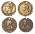 Political:Textile Display (pre-1896), Henry Clay: Brass Tokens.... (Total: 4 Items)