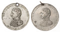 Political:Tokens & Medals, William Henry Harrison: Two Large White Metal Tokens.... (Total: 2 Items)