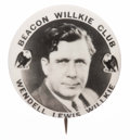 Political:Pinback Buttons (1896-present), Wendell Willkie: Rare Beacon Club Button....