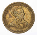 Political:Tokens & Medals, Abraham Lincoln: Brass Medal....