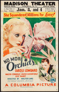 "Movie Posters:Drama, No More Orchids (Columbia, 1932). Window Card (14"" X 22""). Drama....."