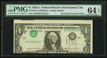 Error Notes:Inverted Third Printings, Fr. 1912-J $1 1981A Federal Reserve Note. PMG Choice Uncirculated64 EPQ.. ...