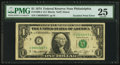 Error Notes:Doubled Face Printing, Fr. 1908-C $1 1974 Federal Reserve Note. PMG Very Fine 25.. ...
