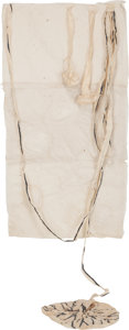 Post-War & Contemporary:Contemporary, Kiki Smith (b. 1954). Untitled (Placenta/Ovaries), 1990.Mixed media with Gampi paper, papier-maché and indigo. 87 x 30 ...