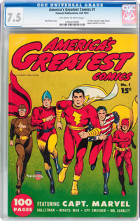America's Greatest Comics #1 (Fawcett Publications, 1941) CGC VF- 7.5 Off-white to white pages