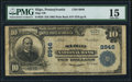 National Bank Notes:Pennsylvania, Sligo, PA - $10 1902 Plain Back Fr. 629 Sligo NB Ch. # 8946. ...