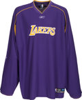 Basketball Collectibles:Uniforms, Circa 2004 Shaquille O'Neal Game Worn Los Angeles Lakers ShootingShirt. ...