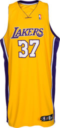 Basketball Collectibles:Uniforms, 2009-10 Ron Artest (Metta World Peace) Game Worn, Signed LosAngeles Lakers Jersey. ...