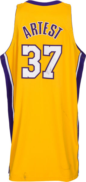 08b2e1b6d 2009-10 Ron Artest (Metta World Peace) Game Worn