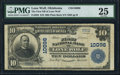 National Bank Notes:Oklahoma, Lone Wolf, OK - $10 1902 Plain Back Fr. 628 The First NB Ch. # 10096. ...