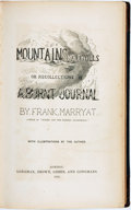 Books:Americana & American History, Frank Marryat. Mountains and Molehills, or Recollections of aBurnt Journal. London: Longman, Brown, Green, and Long...