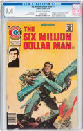 Bronze Age (1970-1979):Science Fiction, The Six Million Dollar Man #1 (Charlton, 1976) CGC NM 9.4 Off-white to white pages....