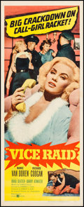"Movie Posters:Crime, Vice Raid (United Artists, 1960). Trimmed Insert (14"" X 35.25"").Crime.. ..."