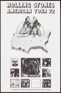 "Movie Posters:Rock and Roll, Rolling Stones American Tour (London Records, 1972). Tour Poster (11"" X 17""). Rock and Roll.. ..."