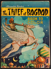 "The Thief of Bagdad (Saalfield Publishing Company, 1940). Coloring Book (52"" Pages, 11"" X 15.25""). Fantas..."