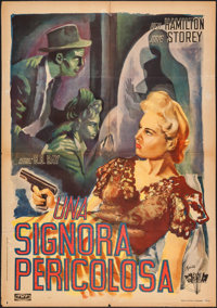 "Dangerous Lady (PRC, 1947). First Post-War Release Italian Foglio (27.25"" X 39""). Crime"