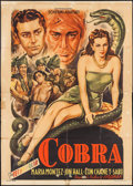 "Movie Posters:Adventure, Cobra Woman (Schermi Associati, R-1950s). Italian 4 - Fogli (55"" X77""). Adventure.. ..."
