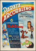 "Movie Posters:Animation, Mother Goose Goes Hollywood (RKO, 1949). First Post-War Italian 2 -Fogli (38.5"" X 54.25""). Animation.. ..."