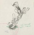Animation Art:Production Drawing, Two-Gun Mickey Animation Drawing (Walt Disney, 1934)....