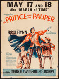 """Movie Posters:Swashbuckler, The Prince and the Pauper (Warner Brothers, 1937). Trimmed Window Card (14"""" X 19""""). Swashbuckler.. ..."""