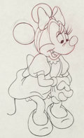 Animation Art:Production Drawing, Pluto's Sweater Minnie Mouse Animation Drawing (Walt Disney, 1949)....