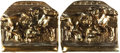 Books:Furniture & Accessories, [Bookends]. Pair of Matching Metal Bookends Depicting RacingHorses. Unsigned, undated.... (Total: 2 Items)