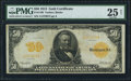 Large Size:Gold Certificates, Fr. 1199 $50 1913 Gold Certificate PMG Very Fine 25 Net.. ...