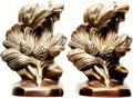 Books:Furniture & Accessories, [Bookends]. Pair of Matching Metal Pine Cone Bookends. PhiladelphiaManufacturing Co., [No date, Circa 1965].... (Total: 2 Items)