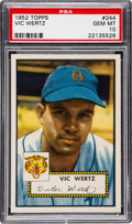 Baseball Cards:Singles (1950-1959), 1952 Topps Vic Wertz #244 PSA Gem Mint 10 - Pop One!. ...