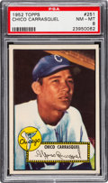 Baseball Cards:Singles (1950-1959), 1952 Topps Chico Carrasquel #251 PSA NM-MT 8....