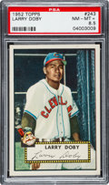 Baseball Cards:Singles (1950-1959), 1952 Topps Larry Doby #243 PSA NM-MT+ 8.5....