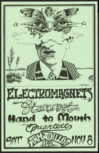 """Electromagnets at the Armadillo World Headquarters (AWHQ, 1975). Concert Poster (11"""" X 17""""). Rock and Roll..."""