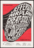"Movie Posters:Rock and Roll, Jefferson Airplane, Great Society, & Heavenly Blues Band at theFillmore (Bill Graham, 1966). Concert Poster (Approx. 14"" X ..."