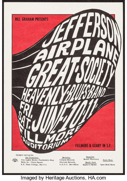 Image result for wes wilson jefferson airplane great society poster