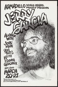"Movie Posters:Rock and Roll, Jerry Garcia at Armadillo World Headquarters (AWHQ, 1976). ConcertPoster (11"" X 17.5""). Rock and Roll.. ..."