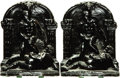 Books:Furniture & Accessories, [Bookends]. Pair of Matching Metal Bookends Depicting Male Nudes.Unsigned, undated.... (Total: 2 Items)