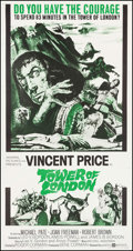 """Movie Posters:Horror, Tower of London (United Artists, 1962). Three Sheet (41"""" X 78.5""""). Horror.. ..."""