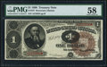 Large Size:Treasury Notes, Fr. 347 $1 1890 Treasury Note PMG Choice About Unc 58.. ...