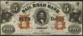Obsoletes By State:Michigan, Adrian, MI-Erie and Kalamazoo Rail Road Bank $5 Aug. 1, 1853 Remainder. ...