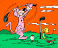 Animation Art:Color Model, Snagglepuss and Yakky Doodle Color Model Cel (Hanna-Barbera,1970s)....