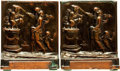 "Books:Furniture & Accessories, [Bookends]. Pair of Matching Metal Bookends Depicting ""The Altar ofLove"". Unsigned, undated.. ... (Total: 2 Items)"