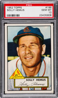 Baseball Cards:Singles (1950-1959), 1952 Topps Solly Hemus #196 PSA Gem Mint 10 - Pop One! ...