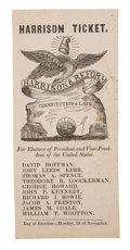 Political:Small Paper (pre-1896), William Henry Harrison: Maryland Ballot....