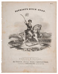 Political:Small Paper (pre-1896), William Henry Harrison: 1840 Campaign Sheet Music....