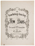 Political:Small Paper (pre-1896), [Millard Fillmore]: Know Nothing Sheet Music....